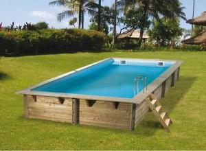 piscines hors sol bois rectangulaire Ubbink Linéa