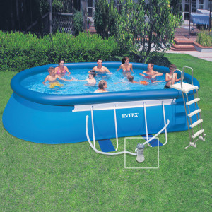 piscine autoporté Intex Ellipse 6,49m